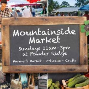 Mountainside market chalkboard